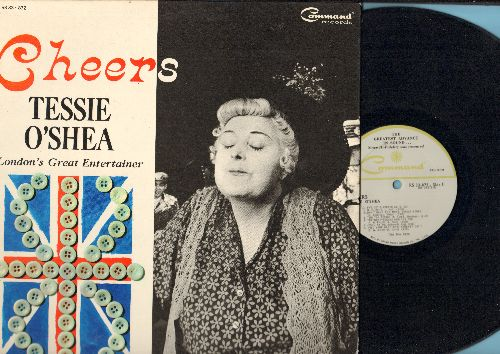 O'Shea, Tessie - Cheers: I've Got A Lovely Bunshc Of Cocoanuts, When You Come To The End Of A Lollipop, It's Men Like You, I've Got Sixpence, Two Ton Tessie (vinyl STEREO LP record, gate-fold cover) - NM9/VG7 - LP Records