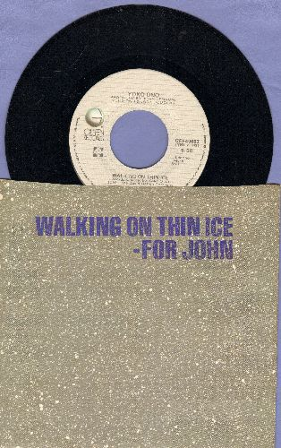Ono, Yoko - Walking On Thin Ice - For John/It Happened (with picture sleeve) - NM9/NM9 - 45 rpm Records