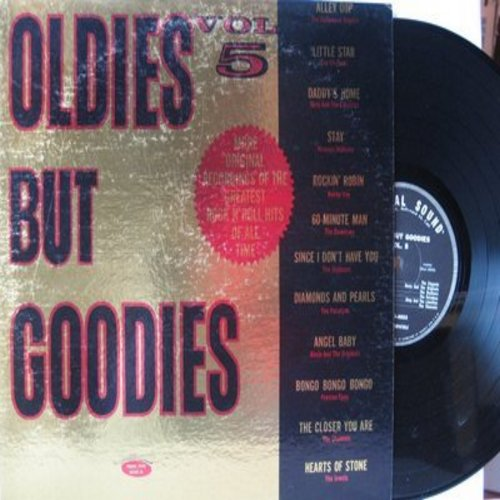 Elegants, Channels, Paradons, Hollywood Argyles, others - Oldies But Goodies Vol. 5: Little Star, Angel Baby, Daddy's Home, Alley Oop, Stay, 60 Minute Man (vinyl STEREO LP record) - VG7/VG7 - LP Records