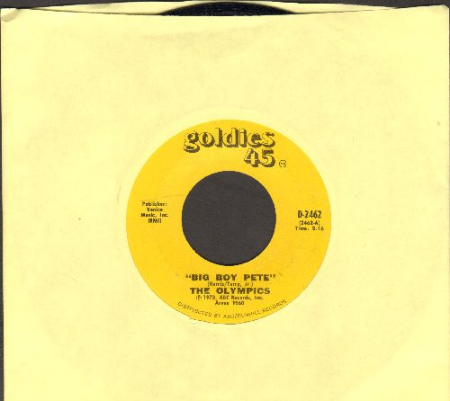 Olympics - Big Boy Pete/We Go Together, Pretty Baby (double-hit re-issue) - NM9/ - 45 rpm Records