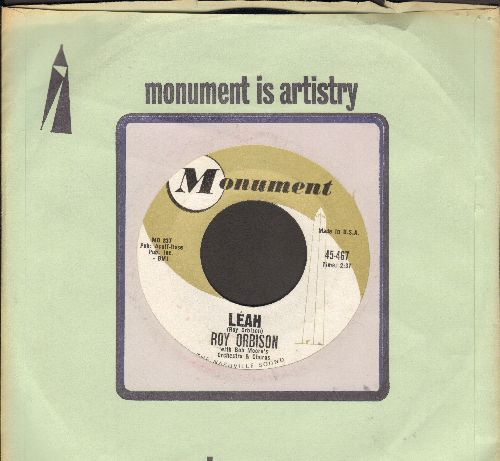 Orbison, Roy - Leah/Workin' For The Man (with Monument company sleeve) - NM9/ - 45 rpm Records