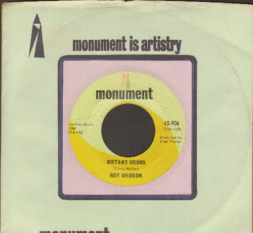 Orbison, Roy - Distant Drums/Let The Good Times Roll (with Monument company sleeve) - EX8/ - 45 rpm Records
