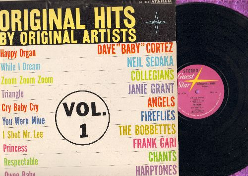 Sedaka, Neil, Bobbettes, Janie Grant, Angels, others - Original Hits by Original Artists: Triangle, I Shot Mr. Lee, Respectable, Cry Baby Cry (vinyl STEREO LP record) - NM9/EX8 - LP Records