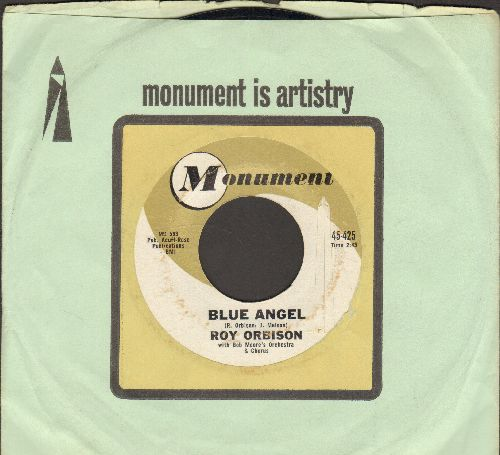 Orbison, Roy - Blue Angel/Today's Teardrops (with Monument company sleeve) - NM9/ - 45 rpm Records