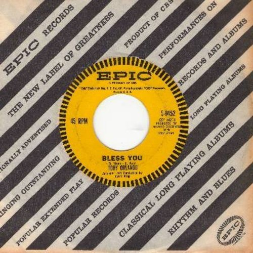 Orlando, Tony - Bless You/Am I The Guy (with vintage Epic company sleeve) - EX8/ - 45 rpm Records