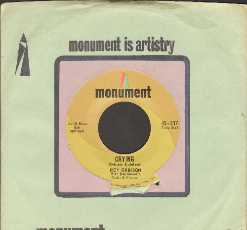Orbison, Roy - Crying/Candy Man (second pressing with Monument company sleeve) - NM9/ - 45 rpm Records