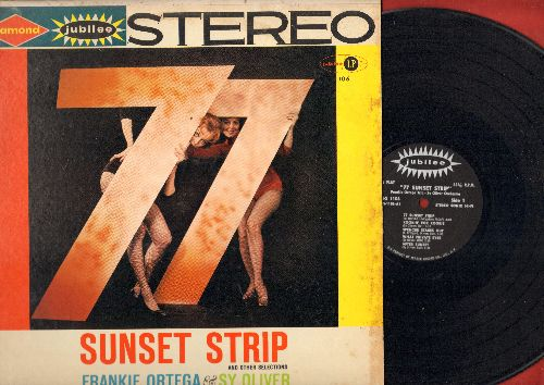 Ortega, Frankie & Sy Oliver - 77 Sunset Strip & Other Selections: Kookin' For Kookie, Spencer Stakes Out, Sunset Strippers, Dining At Dino's, Free Way Mambo (vinyl STEREO LP record) - NM9/NM9 - LP Records