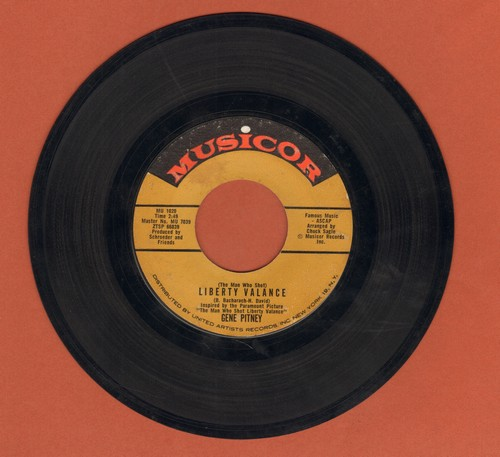 Pitney, Gene - The Man Who Shot Liberty Valence/Take It Like A Man (with juke box label) - EX8/ - 45 rpm Records