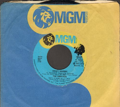 Osmonds - Crazy Horses/That's My Girl (with MGM company sleeve) - EX8/ - 45 rpm Records