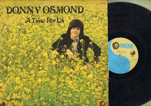 Osmond, Donny - A Time For Us: When I Fall In Love, A Million To One, Unchained Melody, Guess Who (vinyl STEREO LP record) - EX8/VG7 - LP Records