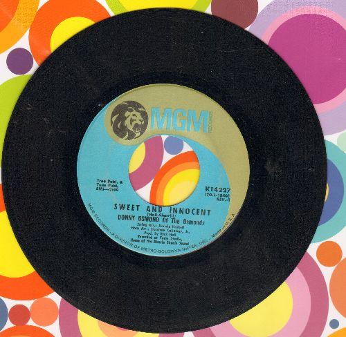 Osmond, Donny - Sweet And Innocent/Flirtin'  - VG7/ - 45 rpm Records
