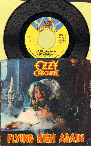 Osbourne, Ozzy - Flying High Again/I Don't Know (LIVE) (with picture sleeve) - NM9/EX8 - 45 rpm Records