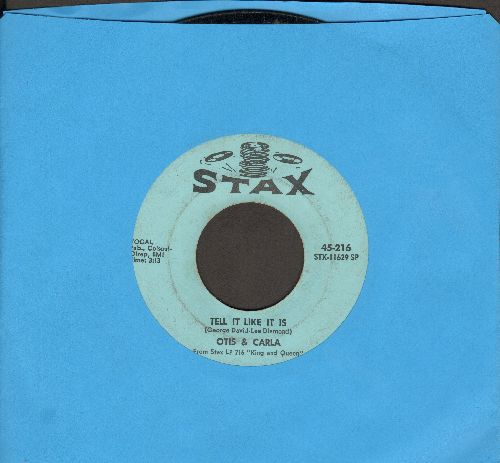 Otis & Carla - Tell It Like It Is/Tramp (with juke box label, wol) - VG7/ - 45 rpm Records