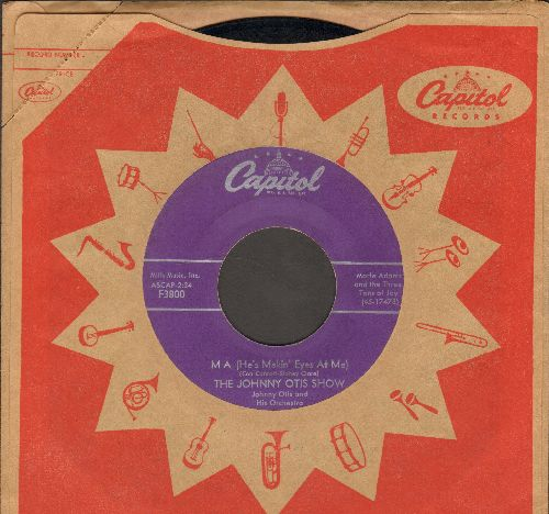 Otis, Johnny Show - Ma (He's Makin' Eyes At Me)/In The Dark (purple label first issue with vintage Capitol company sleeve)(minor wol) - EX8/ - 45 rpm Records
