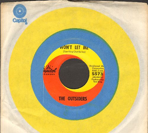 Outsiders - Time Won't Let Me/Was It Really Real (NICE condition with Capitol company sleeve) - NM9/ - 45 rpm Records