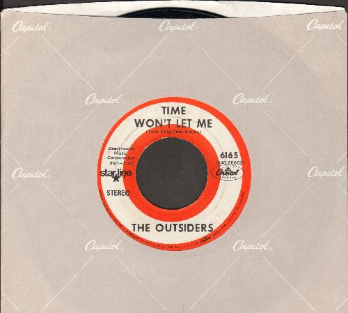 Outsiders - Time Won't Let Me/Girl In Love (double-hit re-issue with Capitol company sleeve) - VG7/ - 45 rpm Records