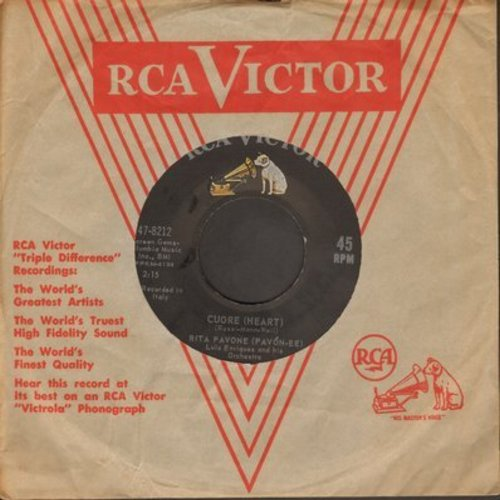 Pavone, Rita - Cuore (Heart)/Il Ballo De Matone (with RCA company sleeve) - VG7/ - 45 rpm Records