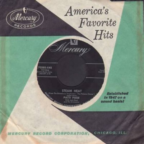 Page, Patti - Steam Heat (FANTASTIC Vintage Jazz Sound!)/Lonely Days (with Mercury company sleeve) - EX8/ - 45 rpm Records