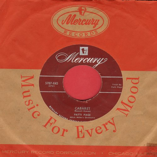 Page, Patti - Cabaret/Whispering (with Mercury company sleeve) - VG7/ - 45 rpm Records