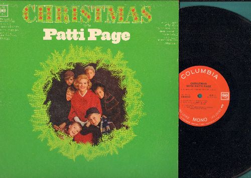 Page, Patti - Christmas With Patti Page: Christmas Bells, Santa Claus Is Coming To Town, Rudolph The Red-Nosed Reindeer, Silver Bells, Happy Birthday Little Jesus (vinyl MONO LP record) - EX8/EX8 - LP Records