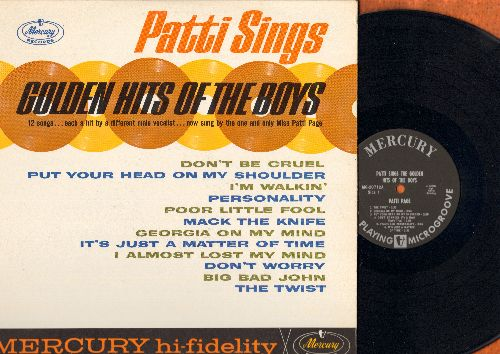 Page, Patti - Golden Hits Of The Boys: Don't Be Cruel, Poor Little Fool, The Twist, Personality, Put Your Head On My Shoulder, Mack The Knife (vinyl MONO LP record, NICE condition!) - NM9/NM9 - LP Records