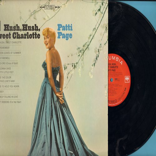 Page, Patti - Hush, Hush, Sweet Charlotte: Try To Remember, Jamaica Farewell, Danny Boy, Can't Help Falling In Love, Scarlet Ribbons (vinyl STEREO LP record) - NM9/EX8 - LP Records