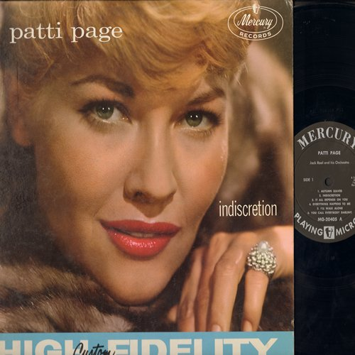 Page, Patti - Indiscretion: Autumn Leaves, I'll Walk Alone, You Call Everybody Darling, Lover Come Back To Me, It All Depends On You (vinyl MONO LP record) - NM9/EX8 - LP Records