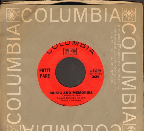 Page, Patti - Music And Memories/The Wishing Doll (with vintage Columbia company sleeve) - M10/ - 45 rpm Records