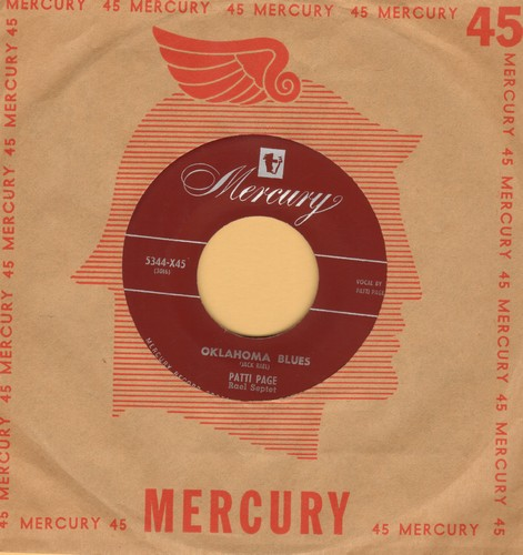 Page, Patti - Oklahoma Blues/With My Eyes Wide Open I'm Dreaming (with vintage Mercury company sleeve) - EX8/ - 45 rpm Records