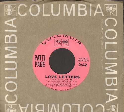 Page, Patti - Love Letters/If And When (with Columbia company sleeve) - NM9/ - 45 rpm Records