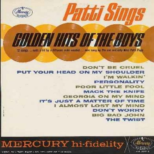 Page, Patti - Golden Hits Of The Boys: Don't Be Cruel, Poor Little Fool, The Twist, Personality, Put Your Head On My Shoulder, Mack The Knife (vinyl MONO LP record) - EX8/VG7 - LP Records
