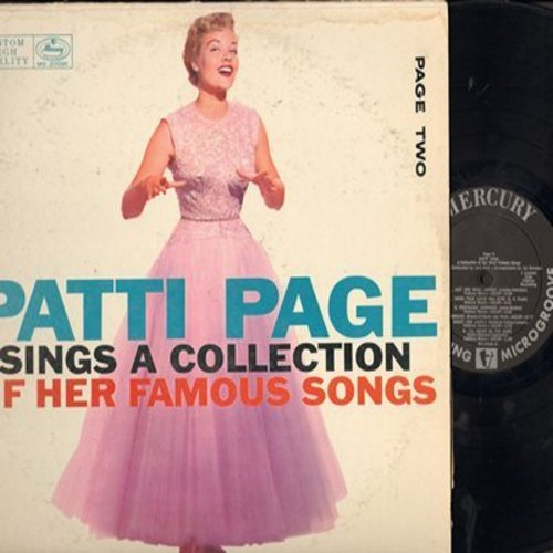 Page, Patti - Page Two: You're Driving Me Crazy, Rockin' Chair, I'll Never Be The Same (vinyl MONO LP record) - EX8/VG7 - LP Records