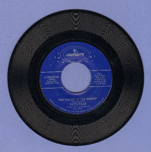 Page, Patti - The Doggie In The Window/Cross Over The Bridge (double-hit re-issue) - NM9/ - 45 rpm Records