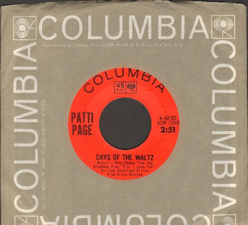 Page, Patti - Days Of The Waltz/Don't You Pass Me By (with Columbia company sleeve) - NM9/ - 45 rpm Records