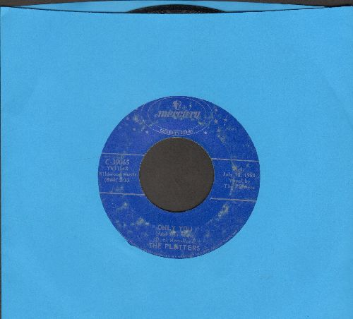 Platters - Only You/The Great Pretender (double-hit re-issue) - EX8/ - 45 rpm Records
