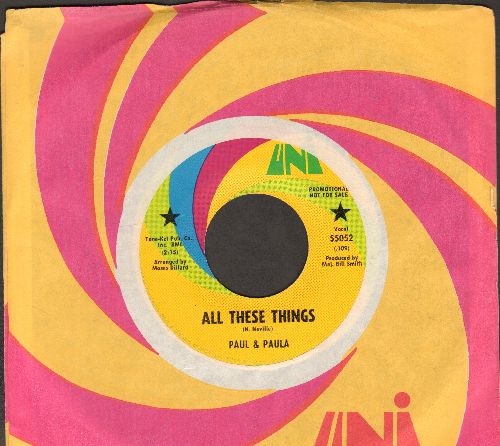 Paul & Paula - All These Things/Wedding (with vintage Auni company sleeve) - EX8/ - 45 rpm Records