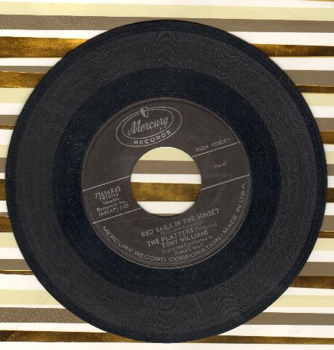 Platters - Red Sails In The Sunset/Sad River (with original company sleeve) - EX8/ - 45 rpm Records