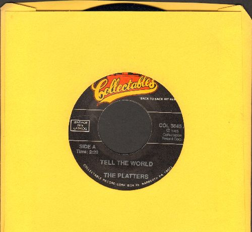 Platters - Tell The World/Beer Barrel Boogie (double-hit re-issue) - NM9/ - 45 rpm Records