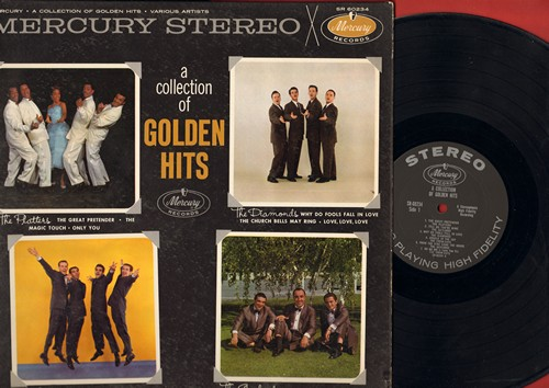 Platters, Crew-Cuts, Diamonds, Gaylords - A Collection Of Golden Hits: Sh-Boom, Why Do Fools Fall In Love, Only You, Angels In The Sky, Church Bells May Ring (vinyl STEREO LP record) - EX8/EX8 - LP Records