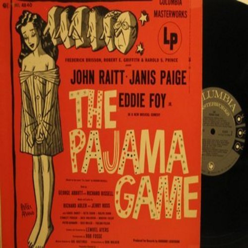 Raitt, John, Janis Paige, Eddie Foy - The Pajama Game - Original Broadway Cast Recording (vinyl MONO LP record) - NM9/EX8 - LP Records