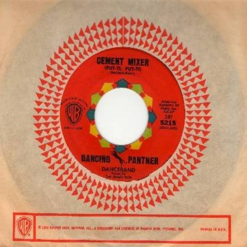Dancing Panther Danceband, vocal by Jungle Cats - Cement Mixer (Put-Ti, Put-Ti) (FANTASTIC Vintage Rock & Roll version of the 40s Novelty Hit!)/Tropic Love (with vintage Warner Brothers company sleeve) - NM9/ - 45 rpm Records