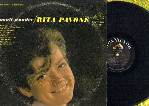 Pavone, Rita - Small Wonder: Wait For Me, Slish Splash, Lipstick On Your Collar, Ruber Ball, I'll Wait For You (vinyl STEREO LP record) - NM9/VG7 - LP Records
