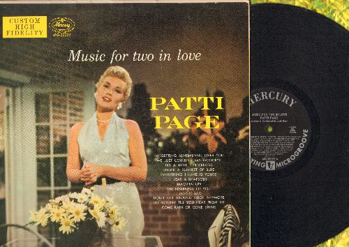 Page, Patti - Music For Two In Love: Come Rain Or Come Shine, Don't Get Around Much Anymore, Imagination, Do Nothin' Till You Hear From Me (vinyl MONO LP record) - EX8/EX8 - LP Records