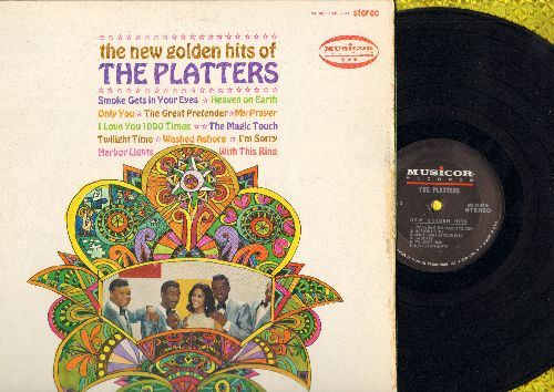 Platters - The New Golden Hits: With This Ring, Smoke Gets In Your Eyes, My Prayer, Twilight Time, Harbor Lights (vinyl STEREO LP record) - VG7/EX8 - LP Records