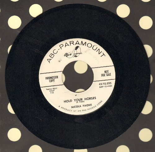 Paone, Nicola - Poor Man's Polka/Hold Your Horses (minor wol) - NM9/ - 45 rpm Records