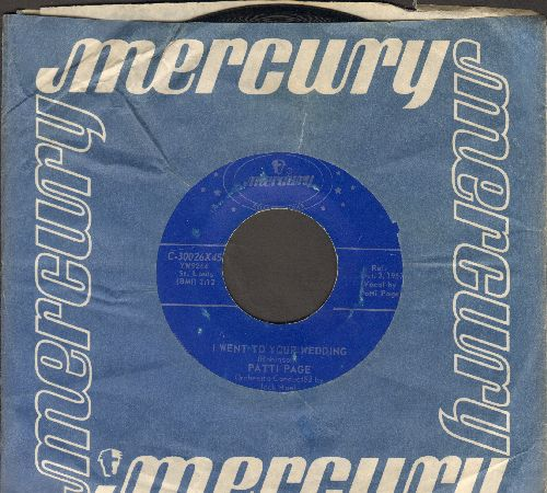 Page, Patti - I Went To Your Wedding/Mockingbird Hill (authentic-looking double-hit re-issue with Mercury company sleeve) - NM9/ - 45 rpm Records