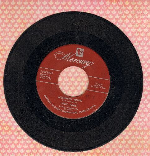 Page, Patti - Allegheny Moon/The Strangest Romance (burgundy label early pressing) - EX8/ - 45 rpm Records