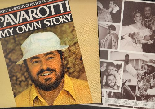 Pavarotti, Luciano - Pavarotti - My Own Story: Musical Highlights of Luciano Pavarotti's Spectacular  Career (2 vinyl STEREO LP records, gate-fold cover) - NM9/NM9 - LP Records