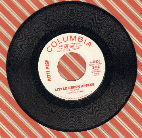 Page, Patti - Little Green Apples/This House (DJ advance pressing) - NM9/ - 45 rpm Records
