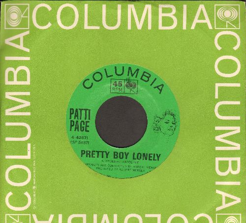 Page, Patti - Pretty Boy Lonely/Just A Simple Melody (with Columbia company sleeve) - NM9/ - 45 rpm Records